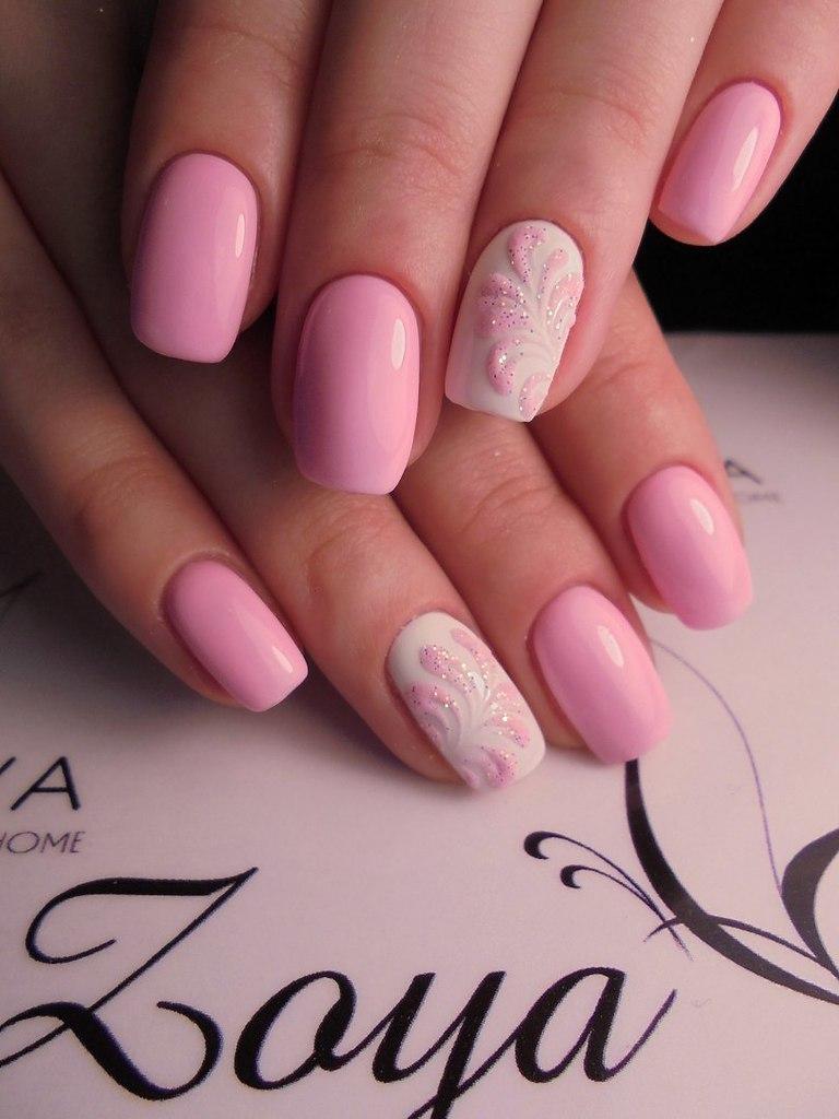 Очень нежный и красивый маникюр в розовых тонах: 40 изумительных вариантов на любой случай!