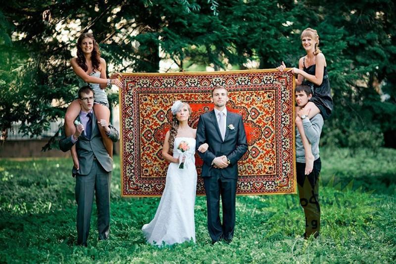 Настоящие короли безвкусицы! Смешные и нелепые свадебные фото в стиле «Эх, ма!»