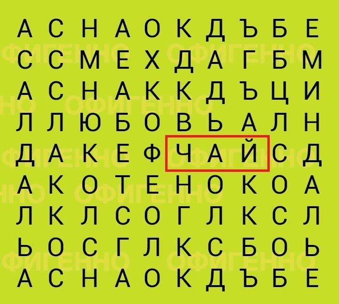 Очень простой и эффективный тест: какое слово вы увидели в первую секунду? Вот только честно!