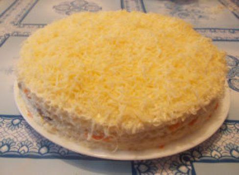 Нежнейший селедочный торт станет главным событием на праздничном столе! Затмит шубу и оливье, проверено!