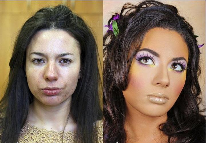 Хотите посмотреть, что способен творить макияж? Смотрите фото до и после – мы чуть не упали от удивления!