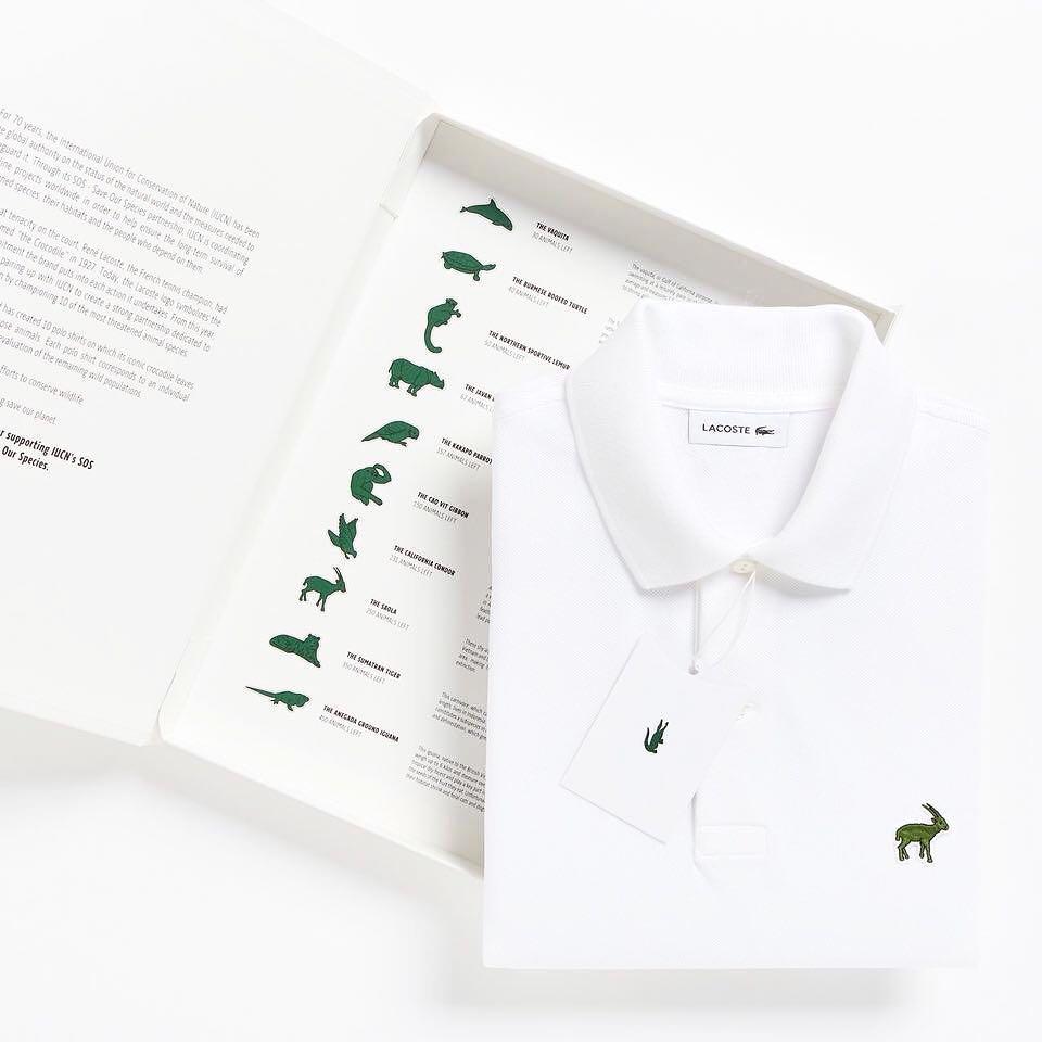 Впервые за 85 лет Lacoste сменили известный логотип: вместо крокодила использовали животных, находящихся на грани вымирания