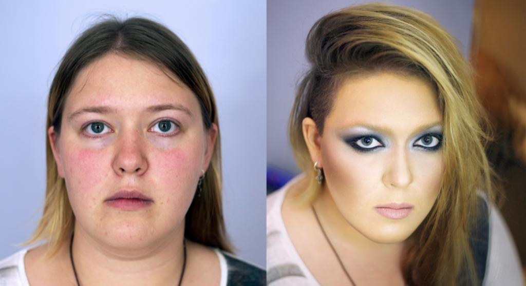 Фото «идеальных» красавиц без макияжа и с макияжем – это нужно видеть