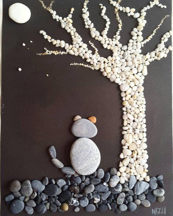Красивые картины из морских камушков – а что из них сделаете вы?